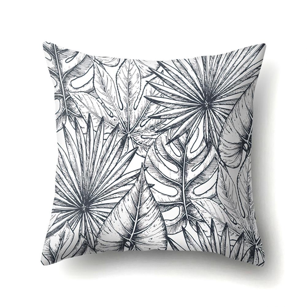 Tropical Plants Leaves Pillowcase Banana Leaf Palm Leaf Cushion Cover Home Decor CCA407(8)
