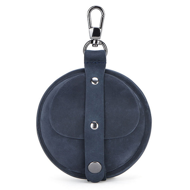 Leather Earphone Storage Case for Huawei Freebuds3 Bluetooth Wireless Earphone Protective Case Full Cover With Metal Buckle Royal blue