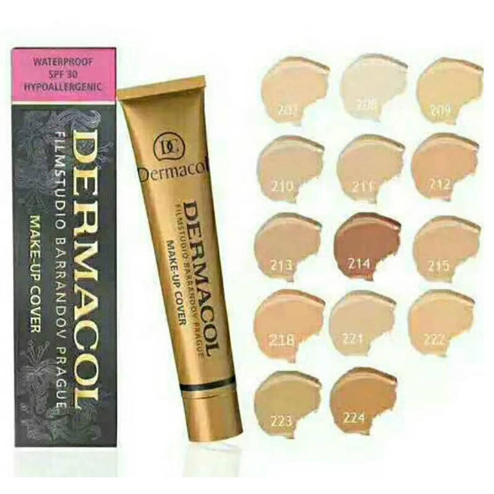 Full Coverage Foundation Long Lasting Waterproof Makeup Cover Cream Concealer Natural Matte Finish