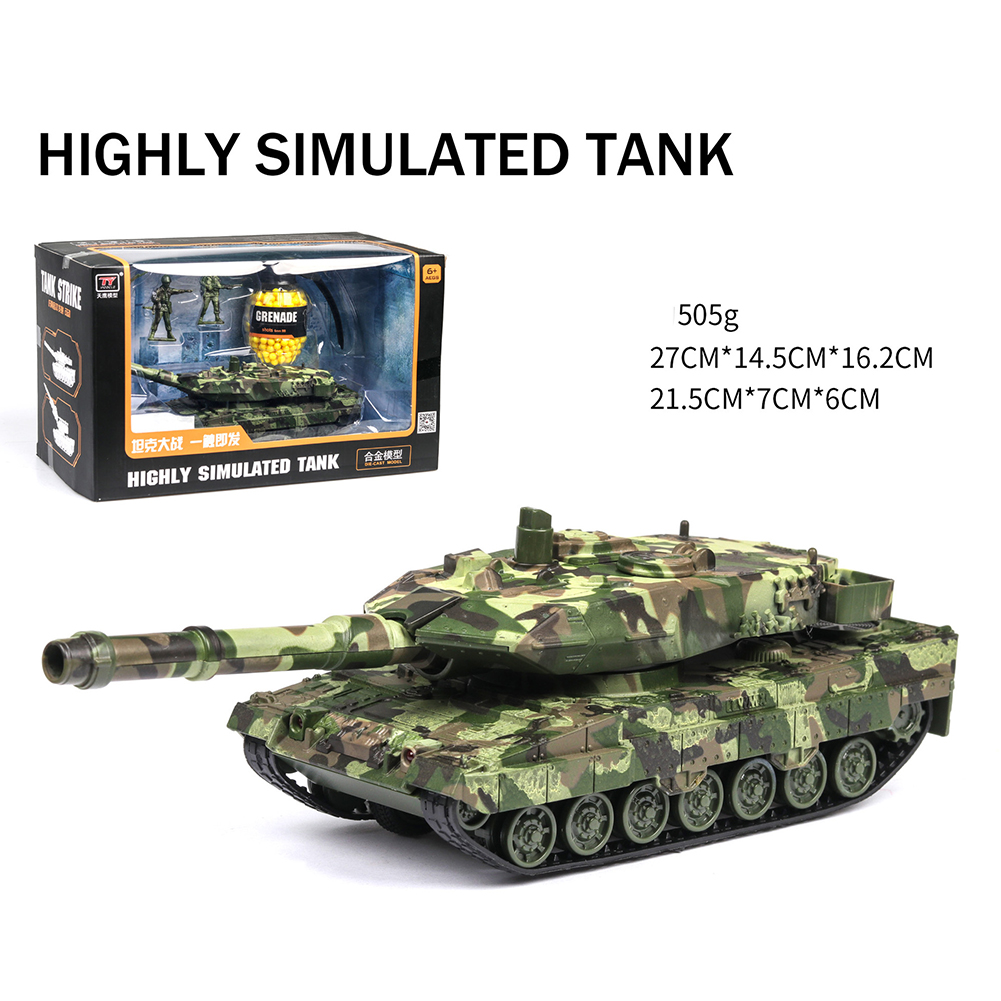 1/32 Simulation Alloy Toy Model BB bomb with Sound and Light Camouflage green