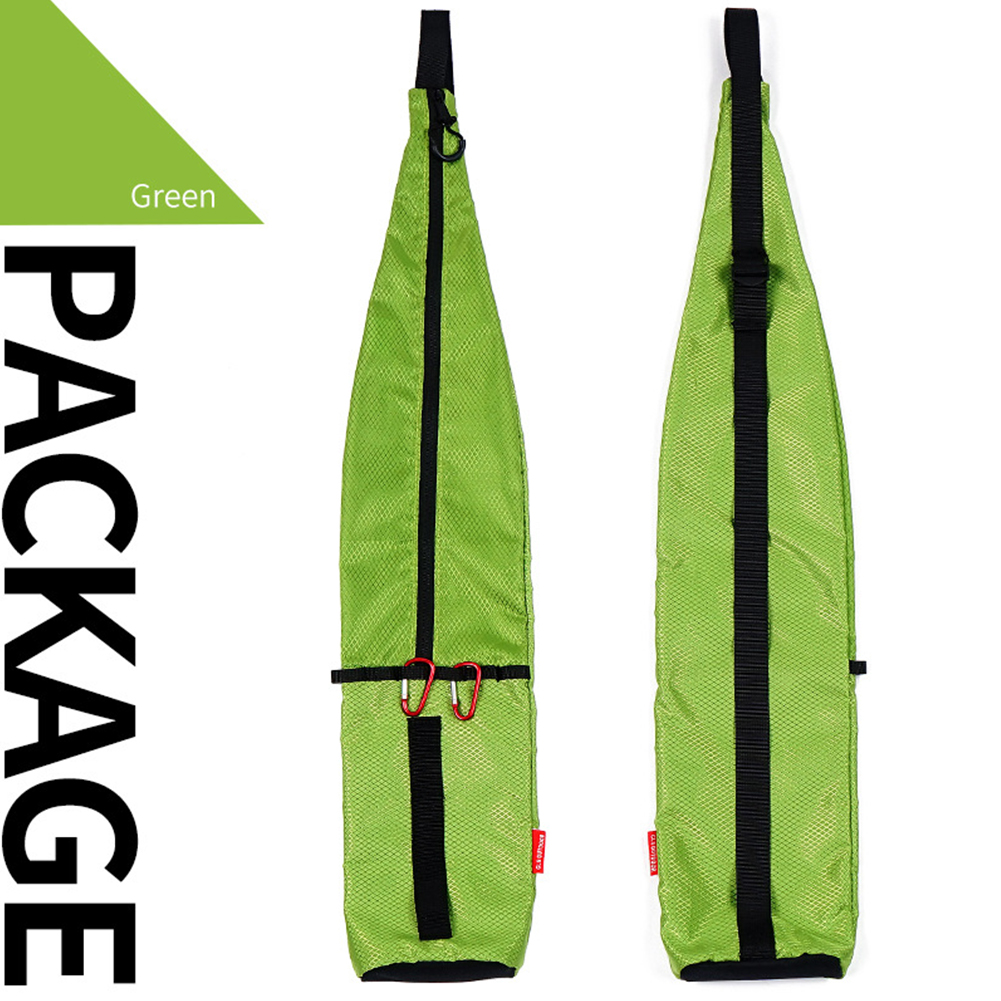 Outdoor Climbing Cane Backpack Waterproof Knapsack Portable Walking Stick Storage Bag Fishing Pole Storage green