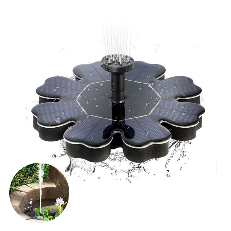 Floating Solar Fountain Flower-shape Water Pump for Outdoor Birdbath Pool Garden Decoration