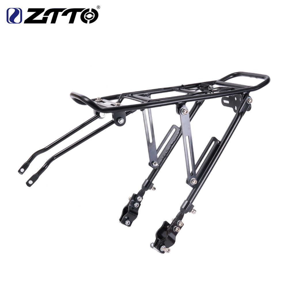 ZTTO Bicycle Rear Rack Carrier Shelf Cycling MTB Bike Back Seat Cargo Rack for V Brake black
