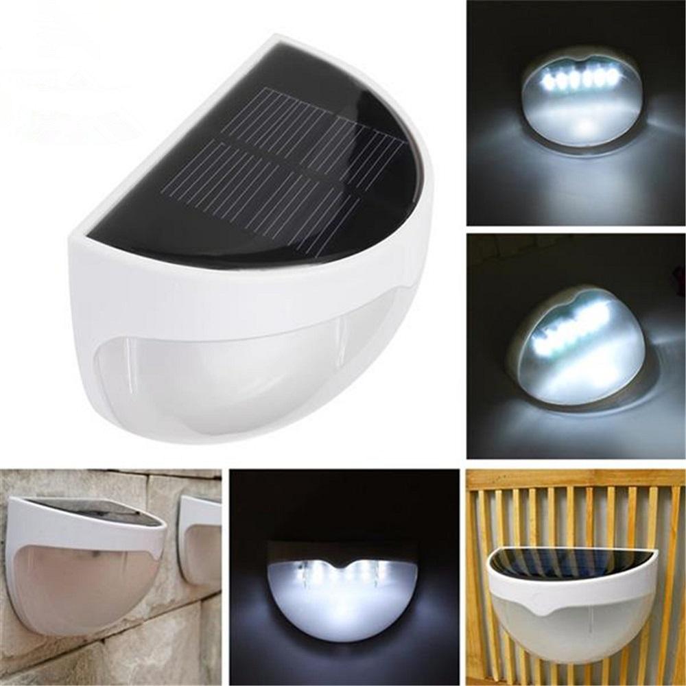 [US Direct] Solar Fence Post Lights N760b Light Control Wall Mount Decorative Deck Lighting White Light white