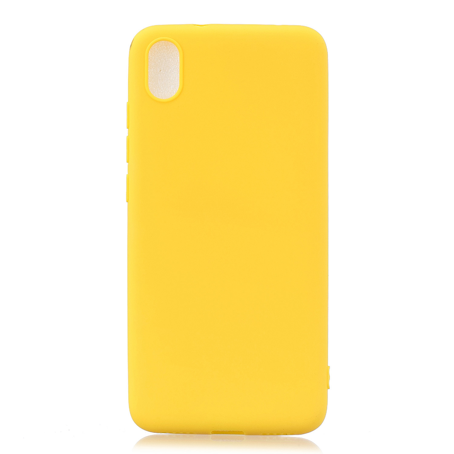 For Redmi 7A Lovely Candy Color Matte TPU Anti-scratch Non-slip Protective Cover Back Case yellow