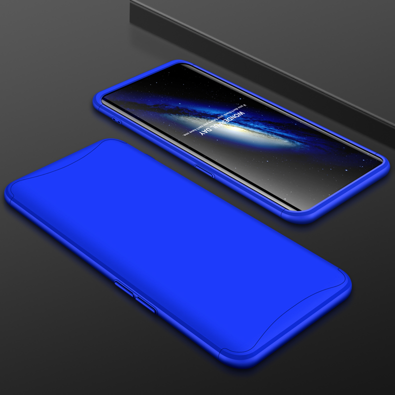 For OPPO Find X Ultra Slim PC Back Cover Non-slip Shockproof 360 Degree Full Protective Case blue