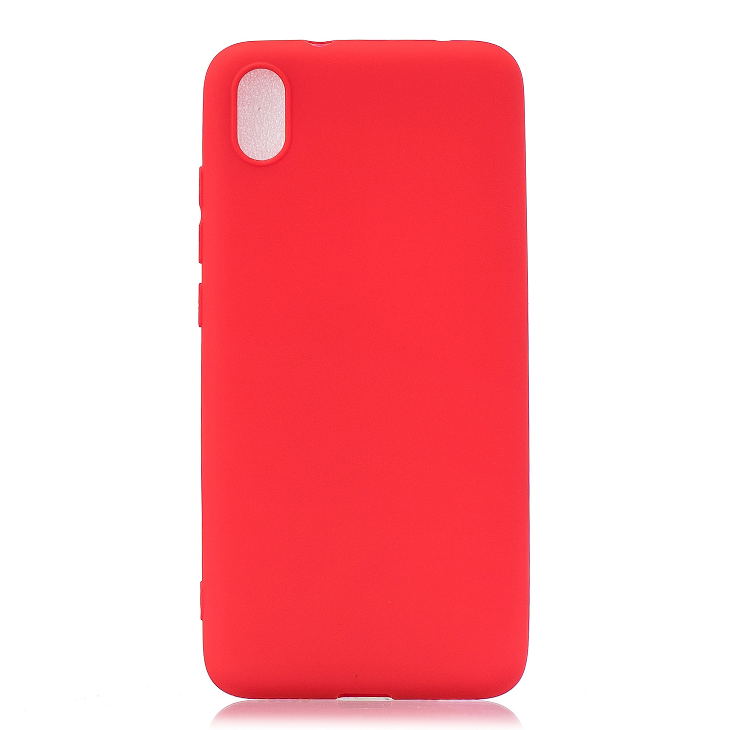For Redmi 7A Lovely Candy Color Matte TPU Anti-scratch Non-slip Protective Cover Back Case red