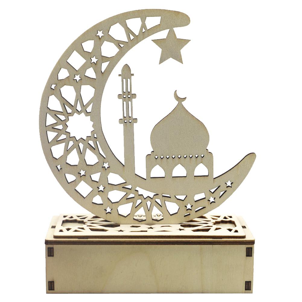 LED Light Hollow Out Moon Decorations for Home Ramadan Eid Mubarak Party Supplies JM01933