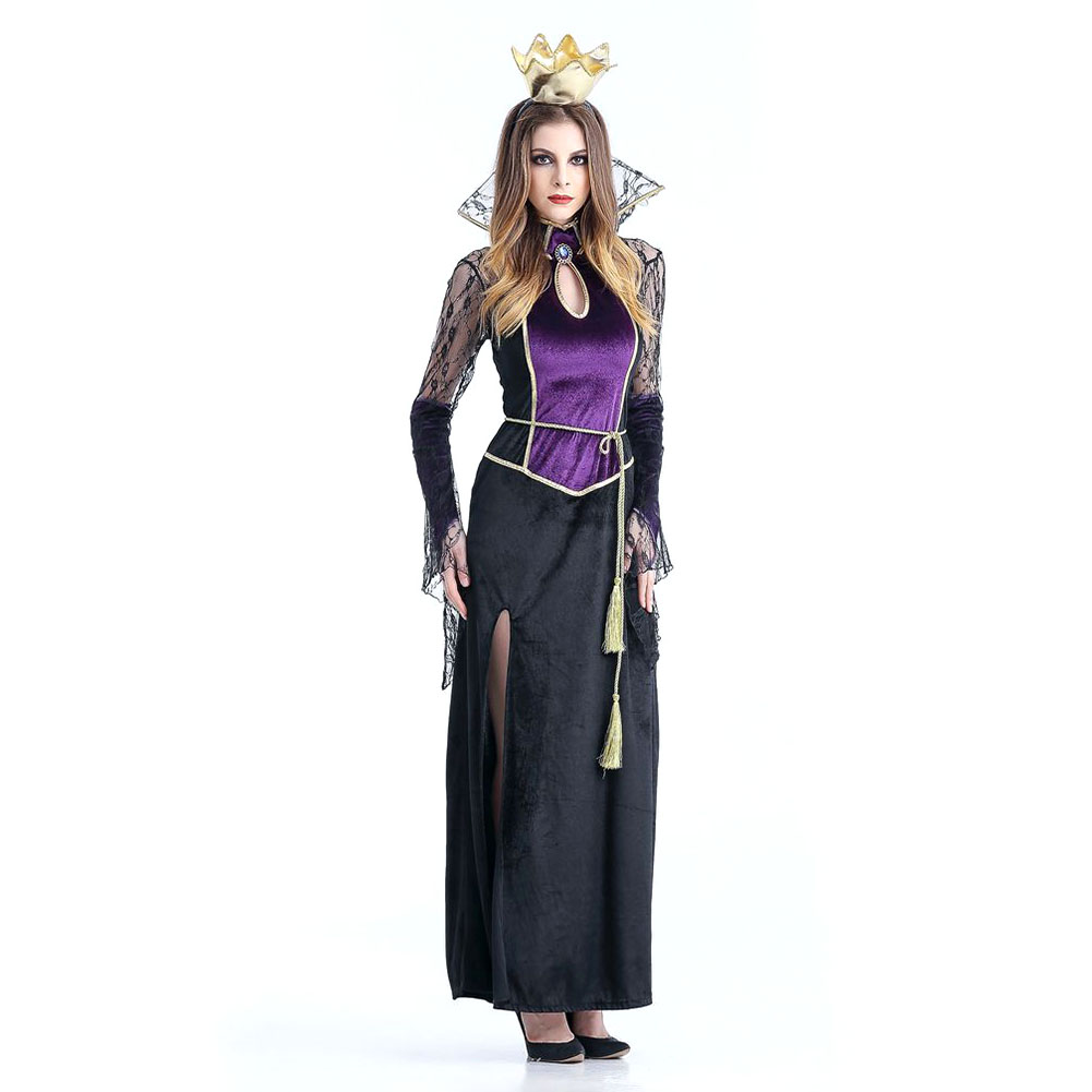 Halloween Scary Costumes Cosplay Spider Vampire Queen witch Costume Fantasia Women Sexy Fantasias Fancy Dress purple_XL