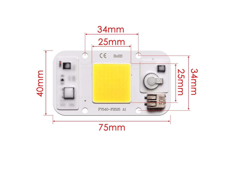20W/30W/50W Led Bulb Welding Free Light Source 220v Aluminum Substrate Light Bead 50 watt white 220V
