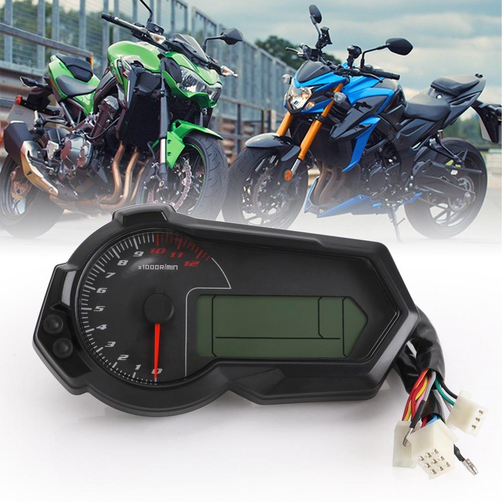 Universal Motorcycle LCD Speedometer Odometer Speed fuel gauge DIY speed gauge