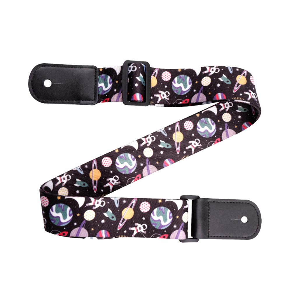 Lovely Ukulele Strap Polyester Aerospace Pattern Band 38mm*1.4m for Kids Aerospace pattern_38mm * 1.4m