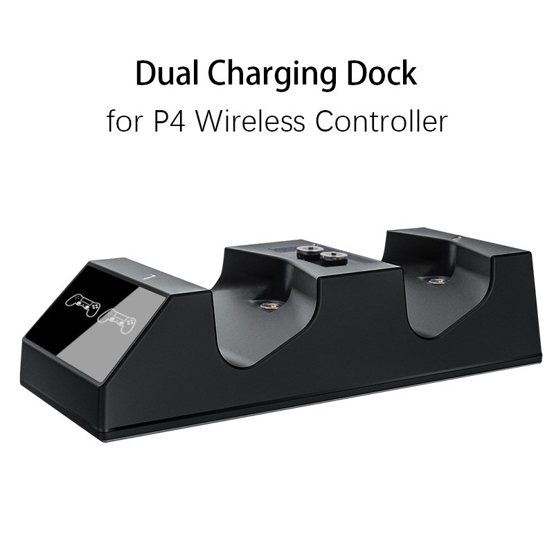 Charger For PS4 Controller Dual Wireless Magnetic Charging Dock For Dualshock 4 Charger Station black