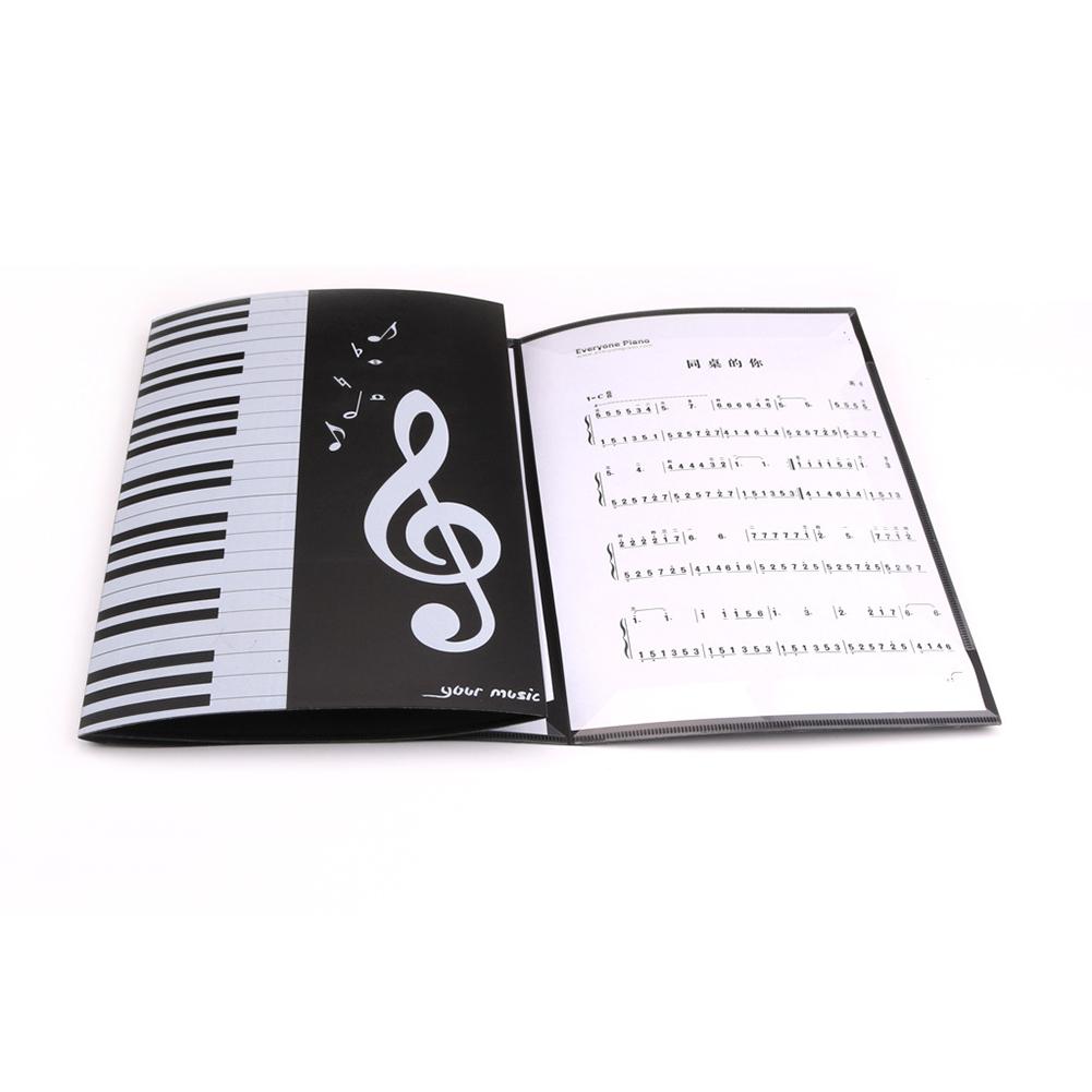 Foldable Music Sheet Score Folder A4 Size Expanded Piano Score Folder black
