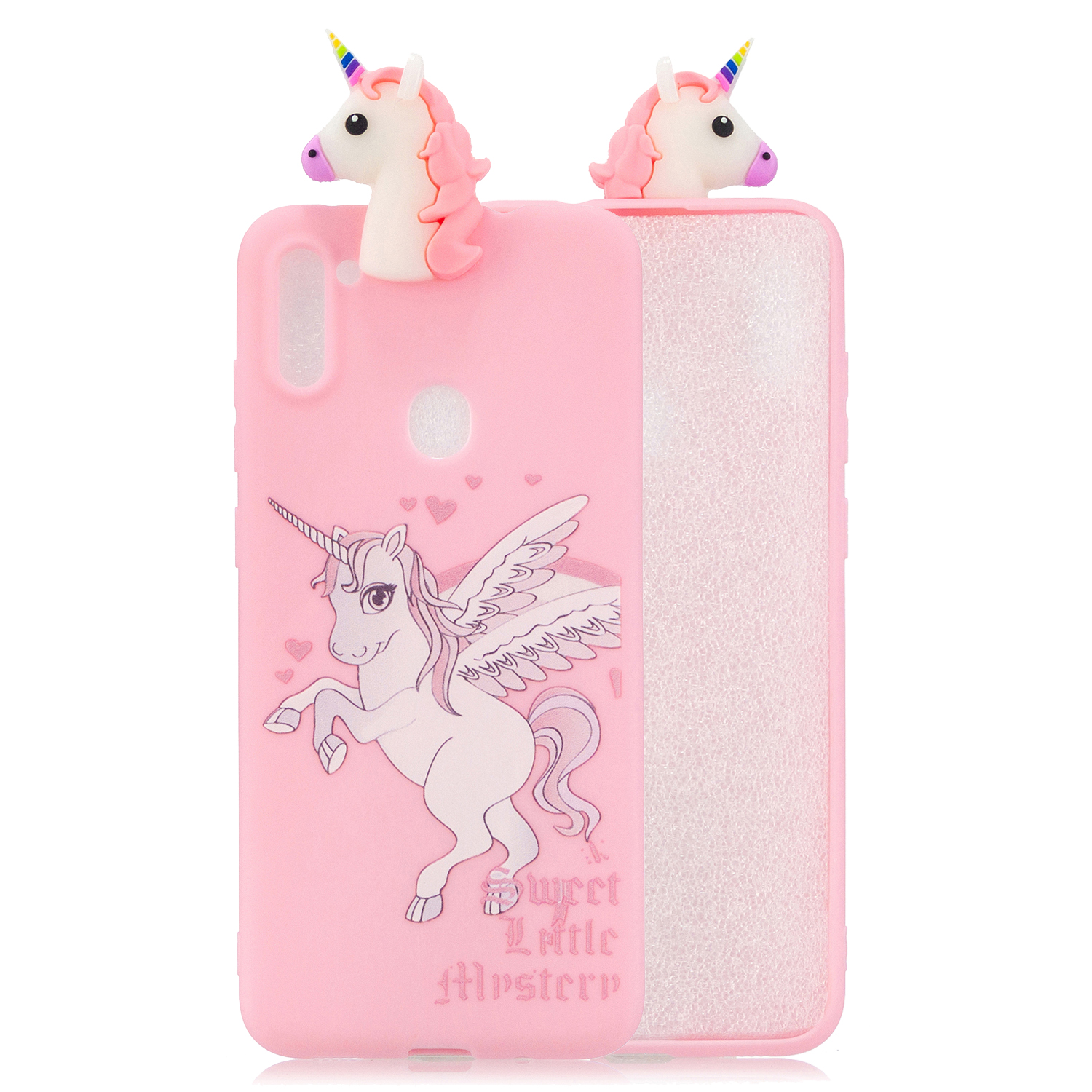 For Samsung A11 Soft TPU Back Cover 3D Cartoon Painting Mobile Phone Case Shell cartoon horse