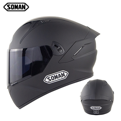 Motorcycle Helmet Anti-Fog Lens sith Fast Release Buckle and Ventilation System Wearable Ergonomic Helmet Dumb black_L