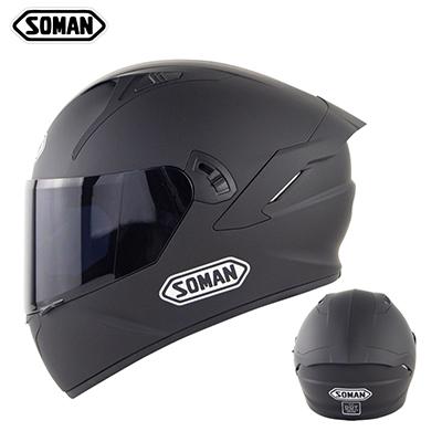 Motorcycle Helmet Anti-Fog Lens sith Fast Release Buckle and Ventilation System Wearable Ergonomic Helmet Dumb black_M