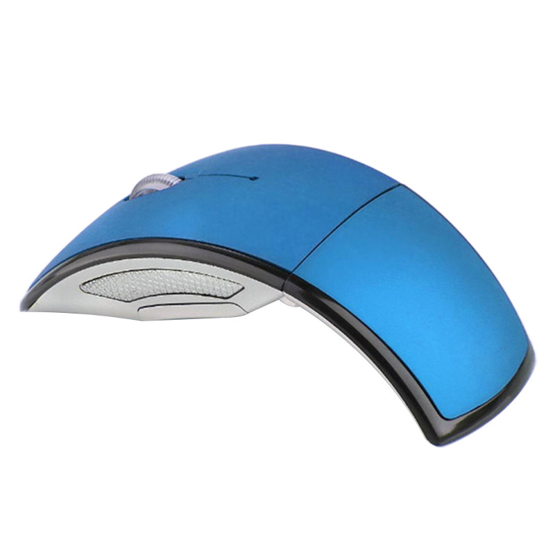 2.4g Wireless Mouse Portable Foldable Notebook Computer Accessory blue