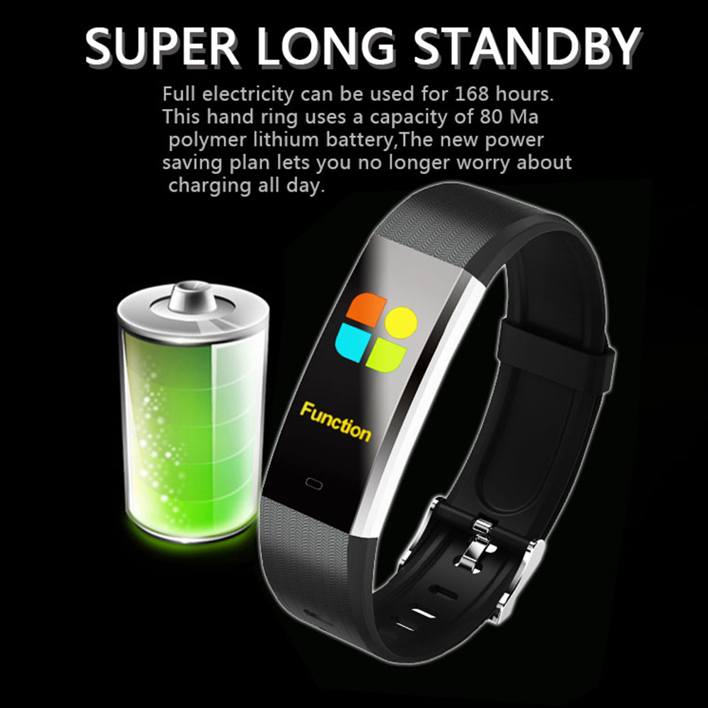 V5 Color Screen Smart WristBand-Black