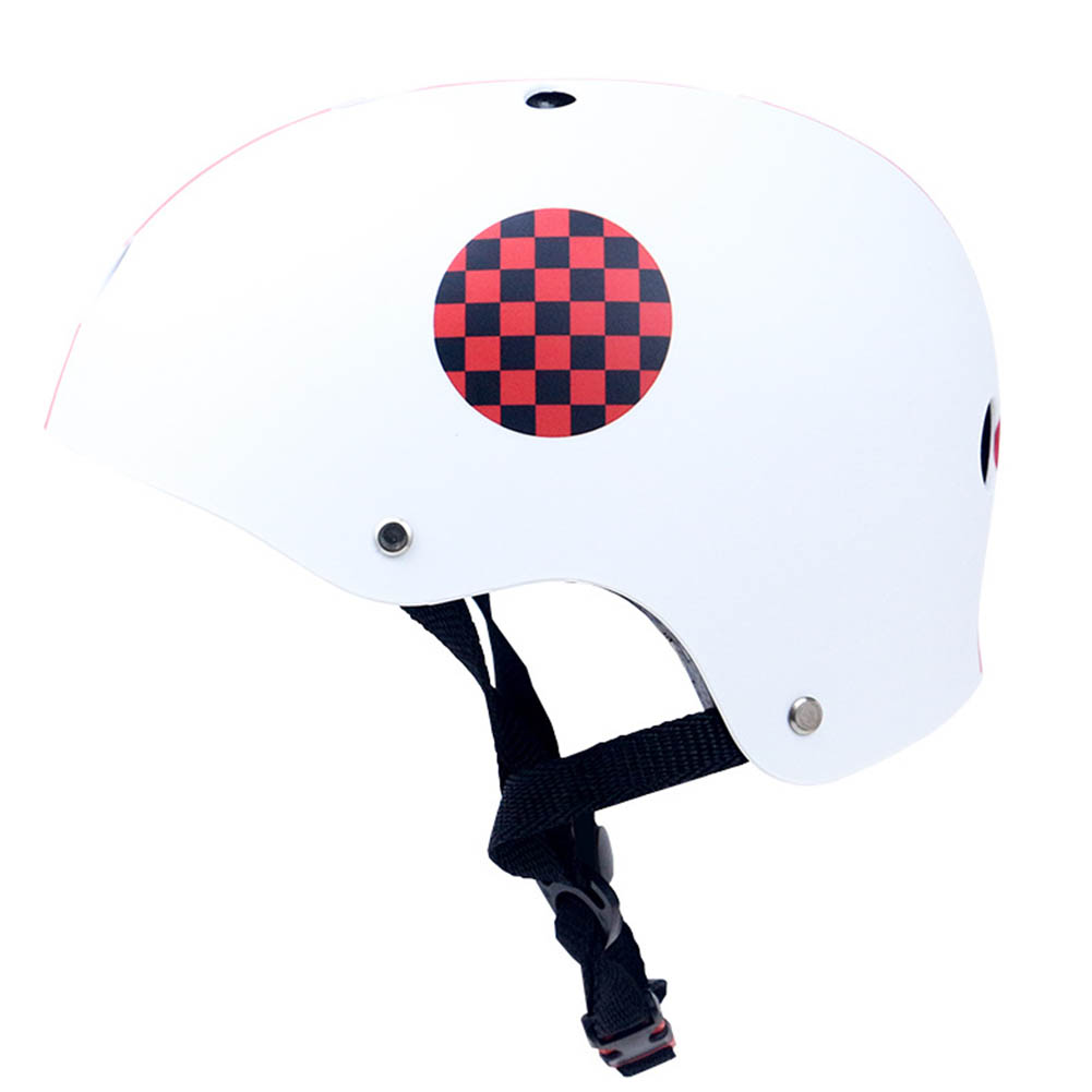 Skate Scooter Helmet Skateboard Skating Bike Crash Protective Safety Universal Cycling Helmet CE Certification Exquisite Applique Style white_M
