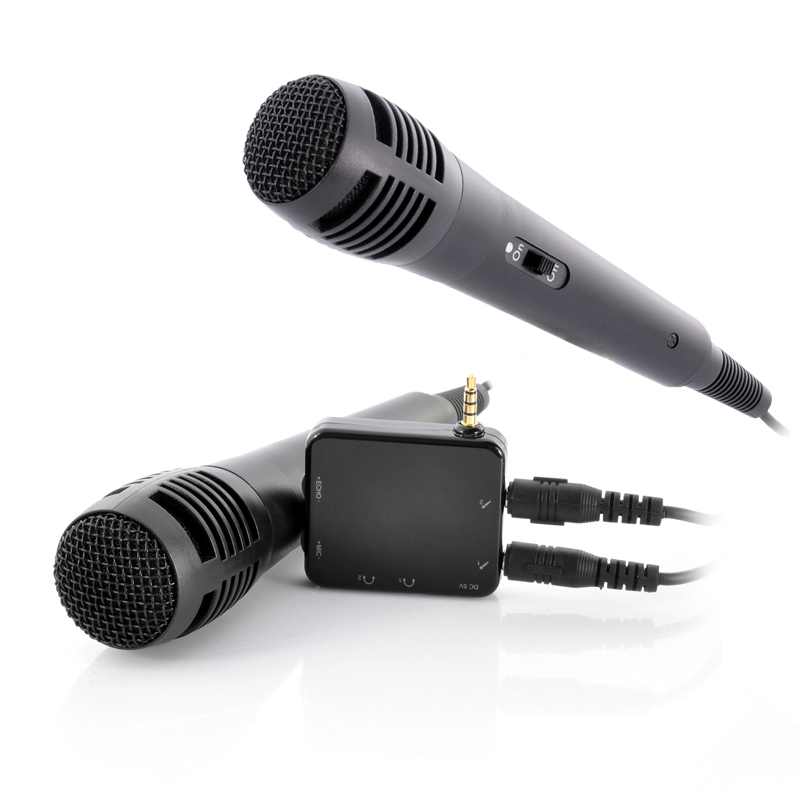 Portable Karaoke Player With 2 Microphones