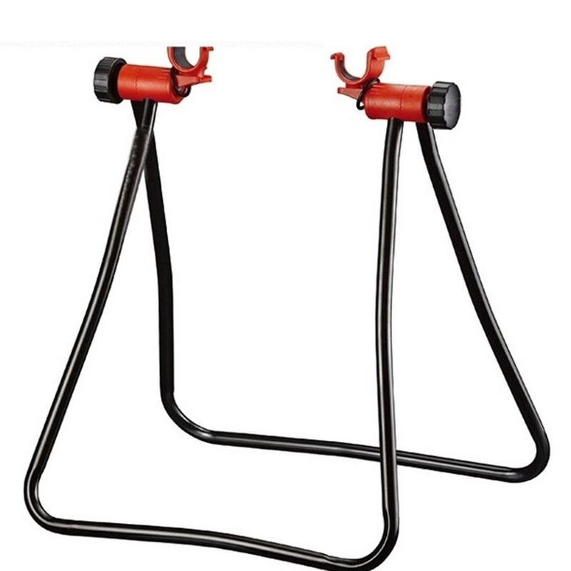 Triangular Vertical Parking Full Suspension Frame Mountain Road Bicycle Vertical Folding Maintenance Bike Frame  red