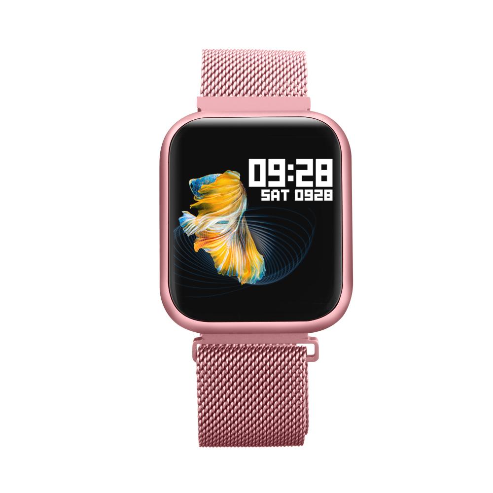 P80 Smart Watch women IP68 waterproof Heart Rate Monitor Fitness Tracker Blood Pressure Smartwatch Rose gold