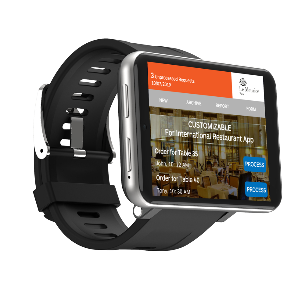 LEMFO LEM T 4G 2.86 Inch Screen Smart Watch Android 7.1 3GB 32GB 5MP Camera 480*640 Resolution 2700mah Battery Smartwatch Silver_3+32