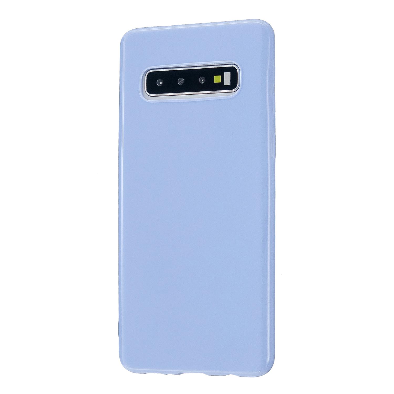 For Samsung S10/S10E/S10 Plus Cellphone Case Precise Cutouts Simple Profile Soft TPU Mobile Phone Shell Taro purple