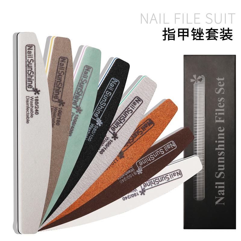 8Pcs Professional Rhombus Nail File Nail Varnish Sets Manicure Tools Nails Accessories 8-piece nail file set