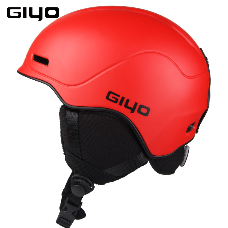 GIYO Safety Winter Outdoor Sports Warm Snowboard Ski Helmets Light Integrally-molded Skate Helmet red_One size