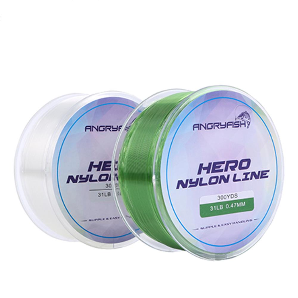 300YD 0.12mm-0.47mm Nylon Fishing Line Monofilament Japan Material Super Strong Carp Fishing Line 2-35LB Transparent color_0.23mm-8LB
