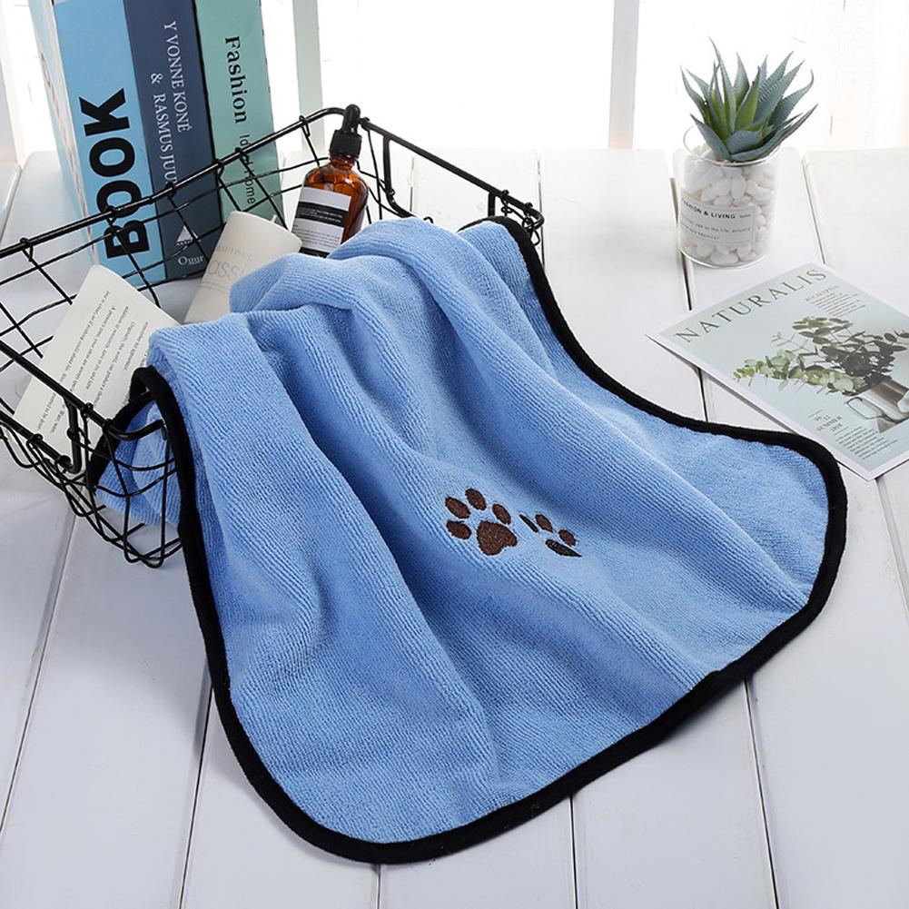 Dog Cat Bath Towel Microfiber Absorbent Towel Soft Comfortable Pet Supplies 50*90cm Light blue