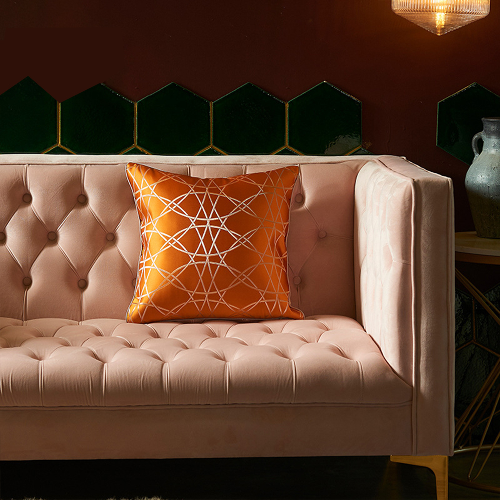 Artificial Silk  Pillowcase  45*45cm High-precision Pillow  Cover For Living Room 3
