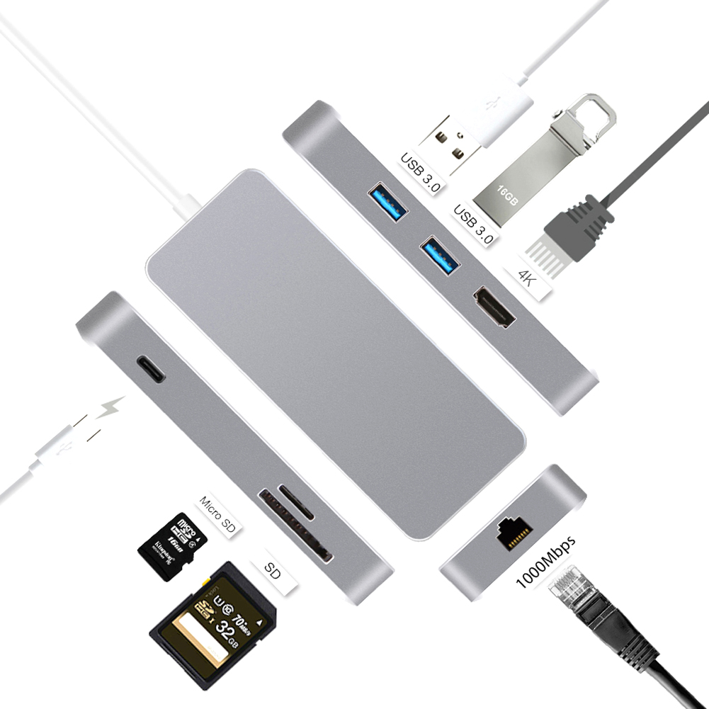 Portable 7 in 1 USB-c Hub