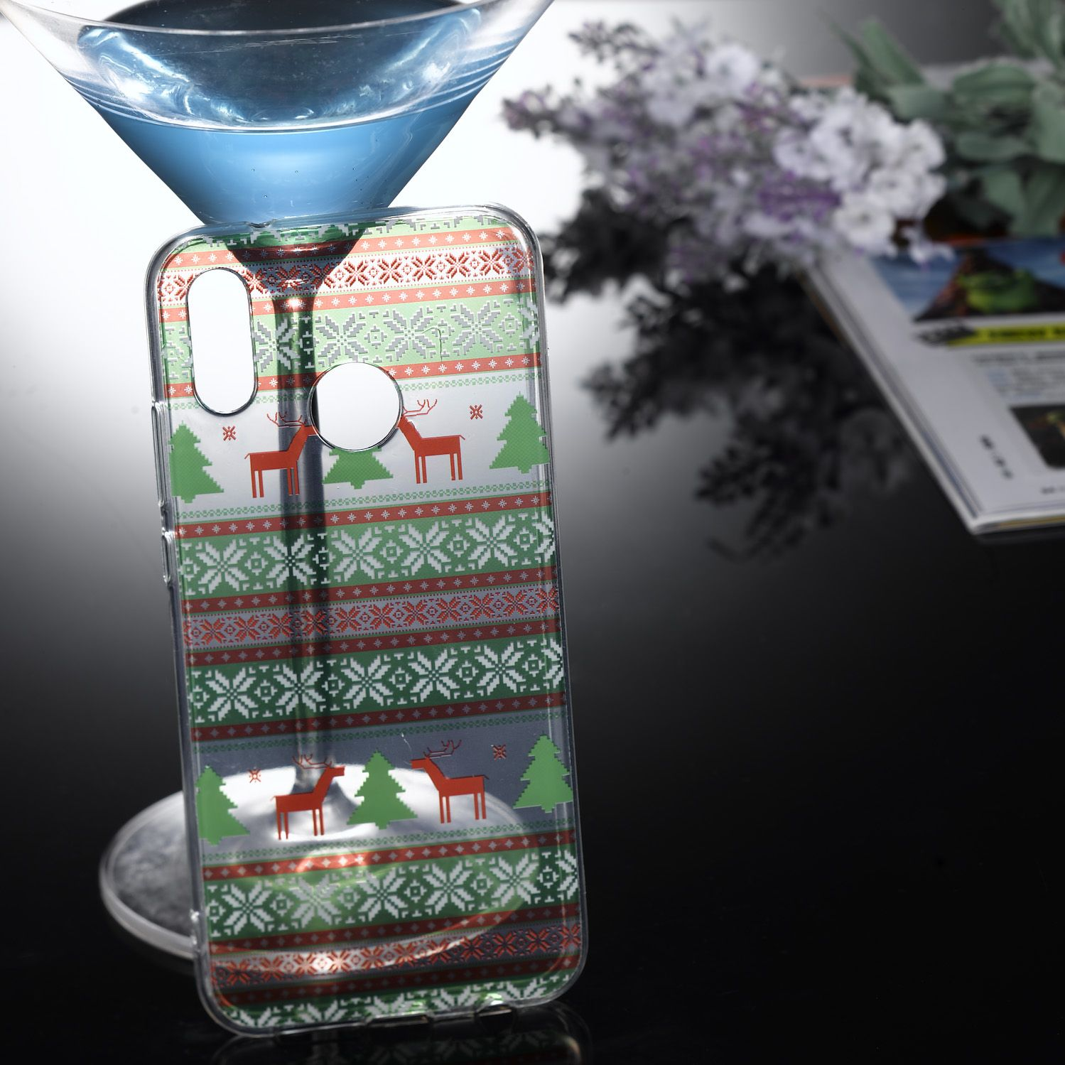 Christmas Style Anti-dust Shell Soft TPU Protective Phone Cover for Huawei P20 Pro