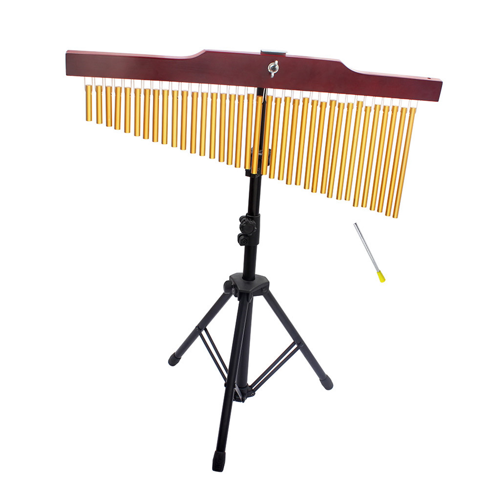 36-Tone Bar Chimes Single-row Wind Chime Musical Percussion Instrument with Tripod Stand Striker 36 tones