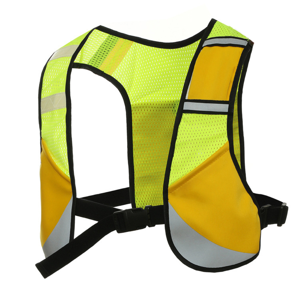Elastic Multifunction Reflective Vest for Night Riding Running Sports yellow