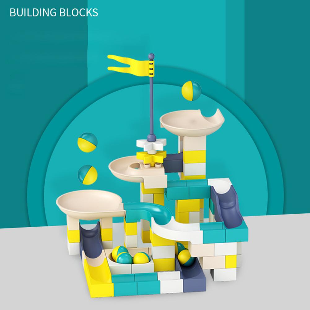 100pcs/set Building Block Slide Roll Ball Plastic Early Education Toy Gift 100pcs/set