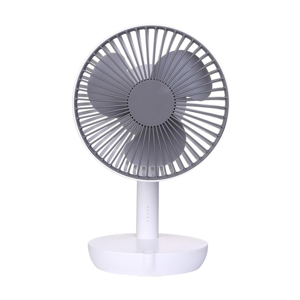 Simple Mini Electric Fan 4000 mA Large Wind Power Large Capacity Five-Gear Mute USB Small Fan white