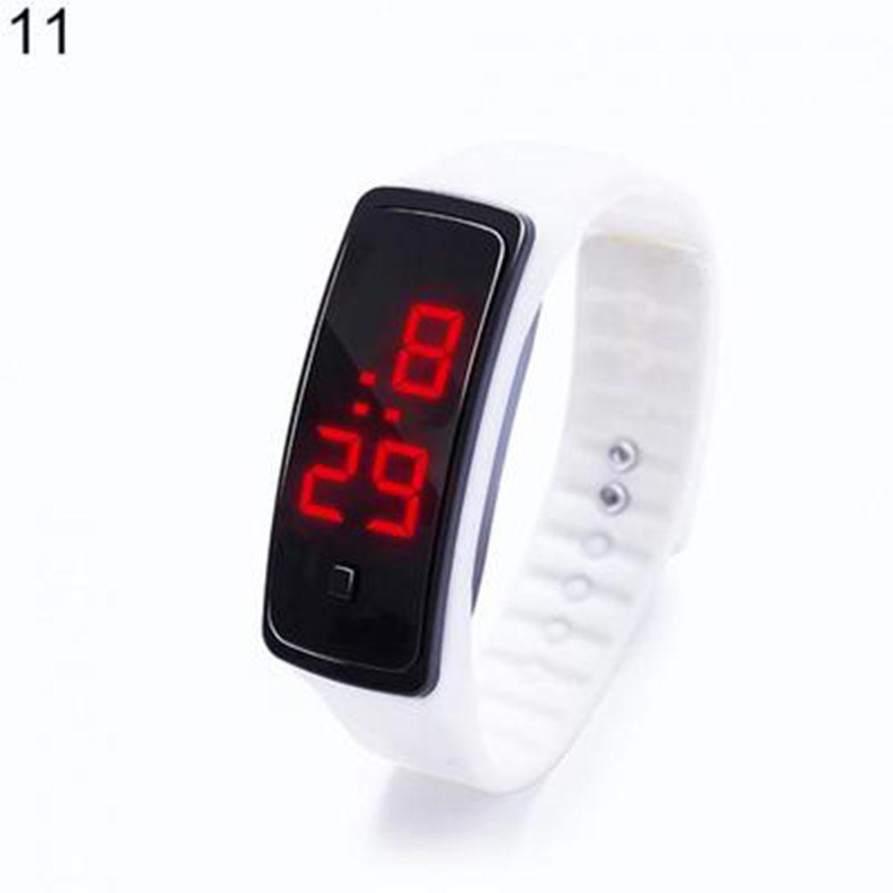 Fashion Boy Girl Sports Daily Waterproof Silicone LED Digital Wrist Watch