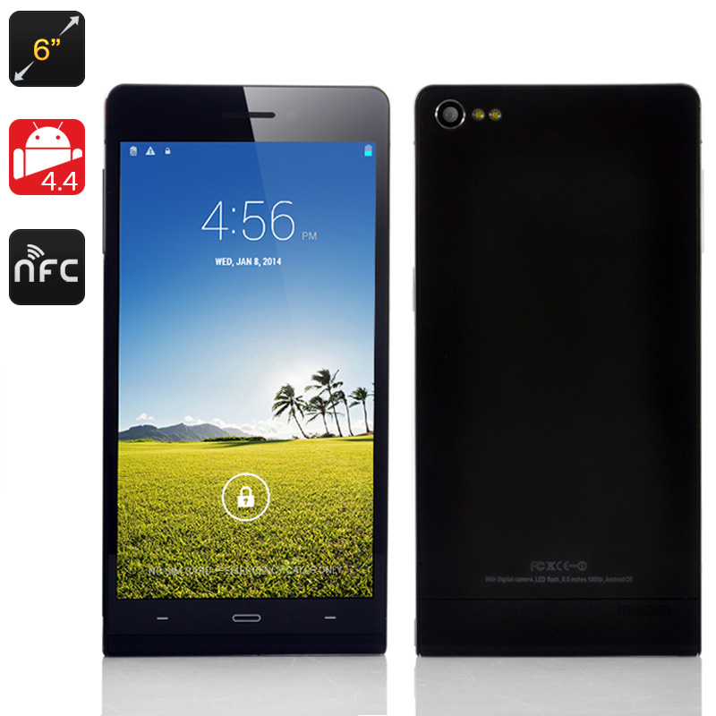 6 Inch Android 4.4 Phone 'Gravity II' (Black)