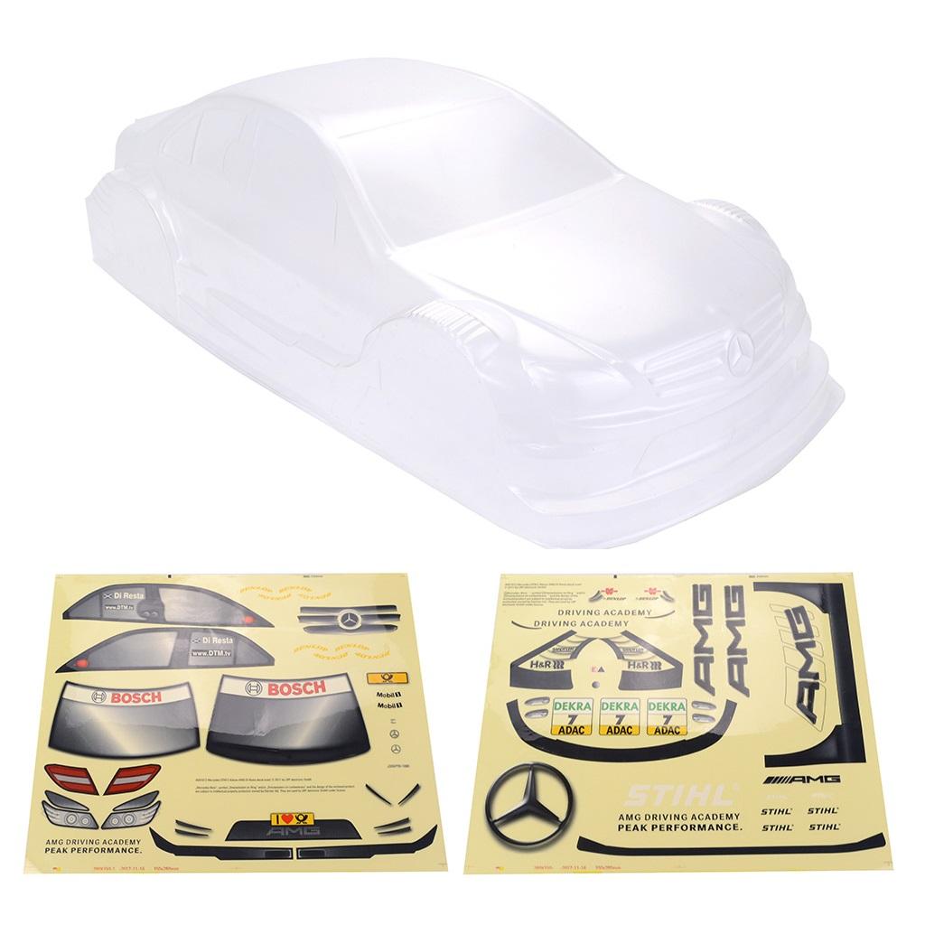 1/10 RC Drift Car On-road Car PC Body for Yokomo Touring Car Tamiya HPI Kyosho HSP Redcat FS ACME LRP Transparent_1/10