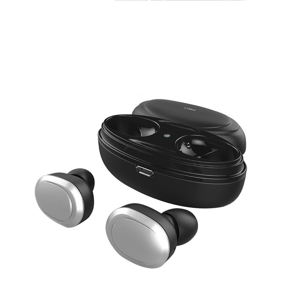 T12 Bluetooth Wireless Earbuds-Silver,UK Plug