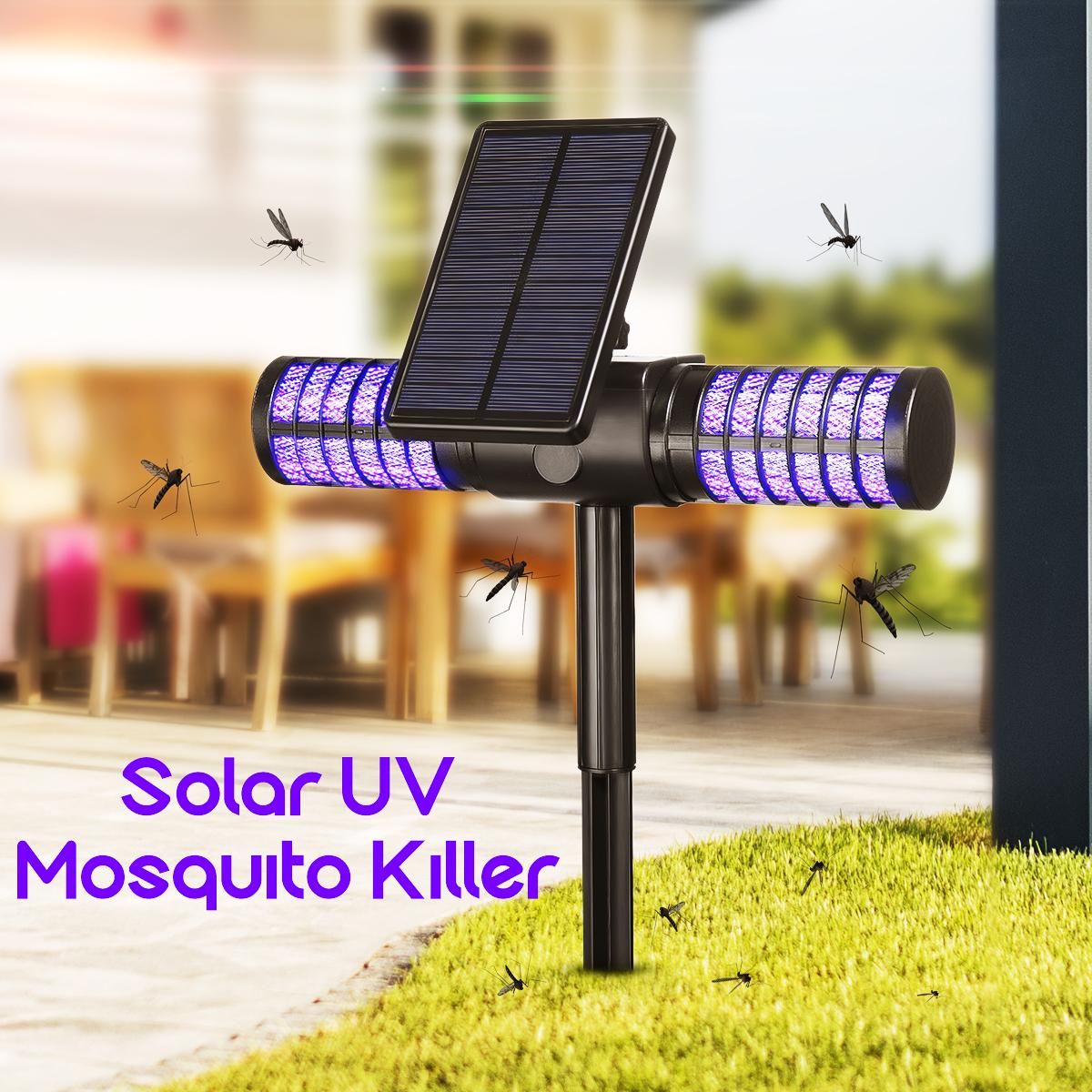 Waterproof Solar Powered Mosquito Killer Light for Oudoor Supplies purple light