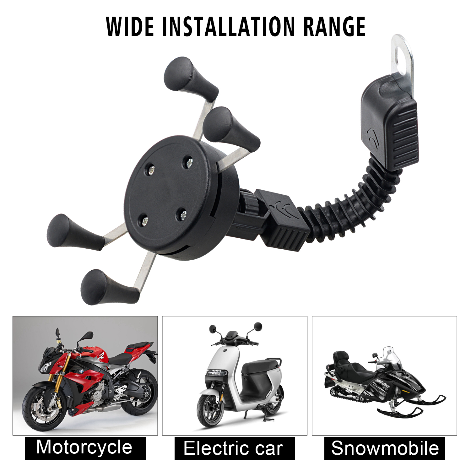 Motorcycle X-shaped Mobile  Phone  Holder Electric Bicycle Riding Shockproof Fixed Navigation Phone Holder X-shaped Mirror Base holder mobile phone holder
