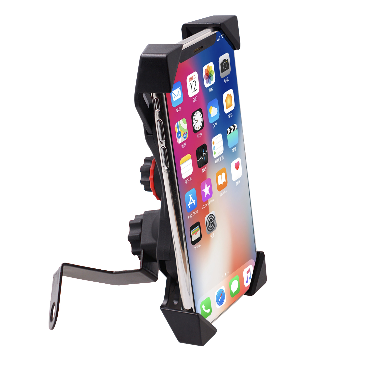 Motorcycle Mobile Phone Holder Electric Bicycle Riding Navigation One-key Shrinking Mobile Phone Holder Rearview mirror type
