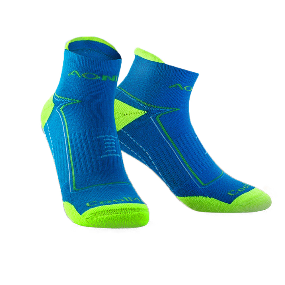 Unisex Sports Napping Socks Wearproof Antiskid Breathable Anti-sweat Socks for Outdoor Sports  Blue L