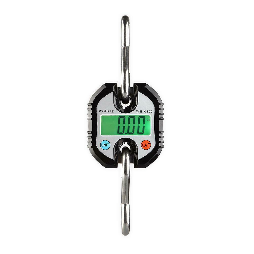 150kg x 50g Mini Heavy Duty Electronic Digital Hook Scale Hanging Crane Scale LCD Balance Weight black