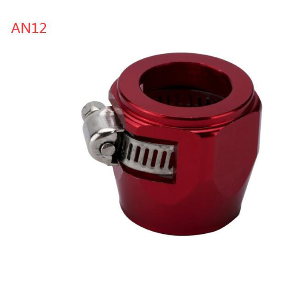 AN4 AN6 AN8 AN10 AN12 Car Hose Finisher Clamp Radiator Modified Fuel Pipe Clip Buckle Red-AN12
